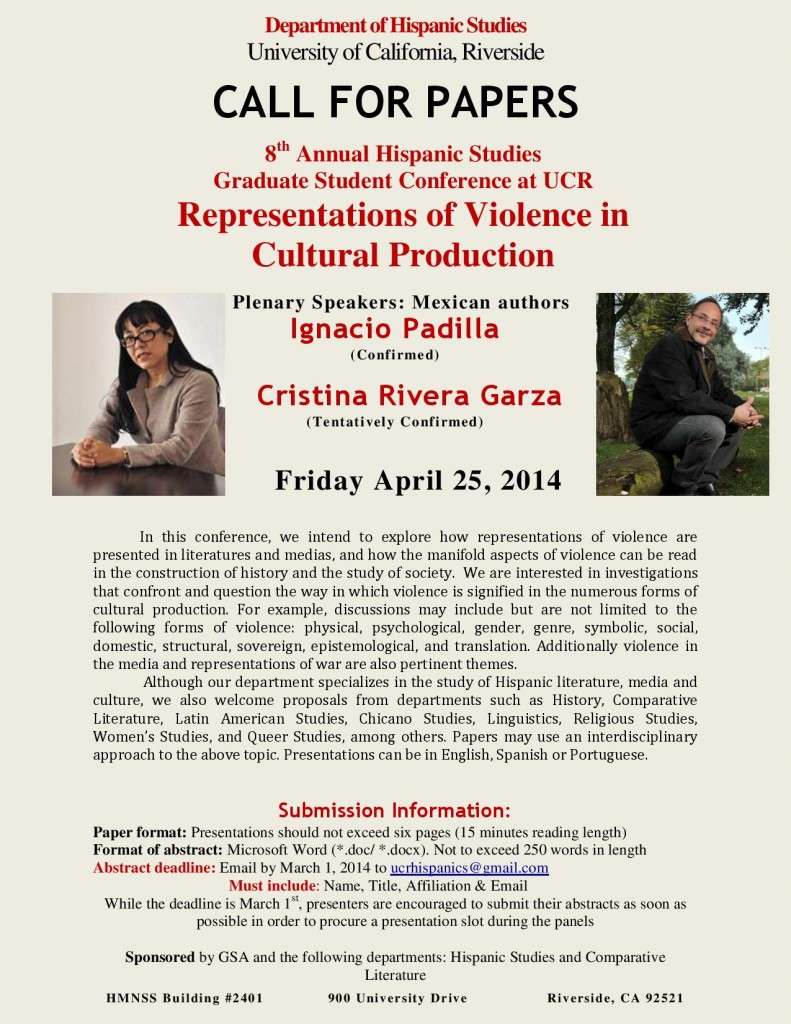 Call for Papers, 2014 UCR Hispanic Studies Conference.pdf-page-001 (2)